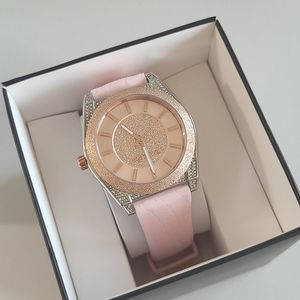 MICHAEL KORS Rose Gold Silicone Strap Watch